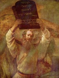 Moses by Rembrant